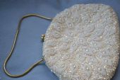 Vintage Handbag - 1950s to 1960s Beads, Sequins and Pearls with a leaf design (SOLD)